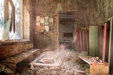 Verlaten School in Tsjernobyl. van Roman Robroek