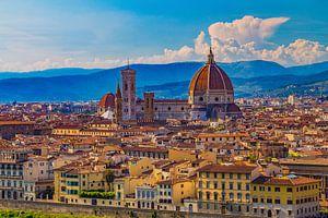 Florence, Italië - Uitzicht over de stad - 1