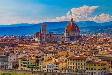 Florence, Italië - Uitzicht over de stad - 1 van