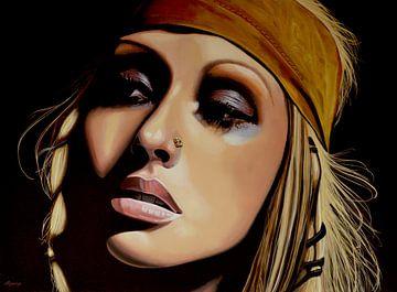 Christina Aguilera schilderij van