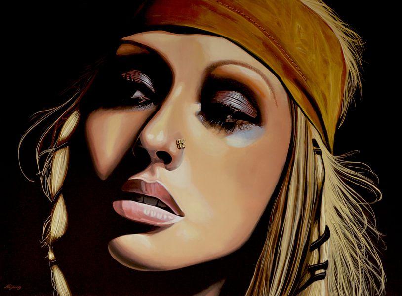 Christina Aguilera schilderij van Paul Meijering