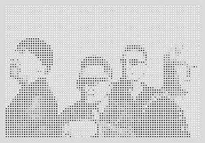 U2 digital dots and pop art