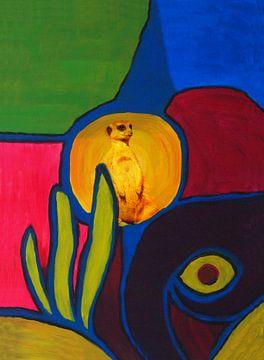 Meerkat on the lookout von Caroline van Gein