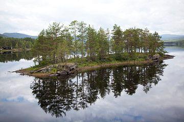 Eilandje in Noorwegen van Kees van Dun