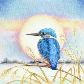 IJsvogel in de winter van Rianne Brugmans van Breugel