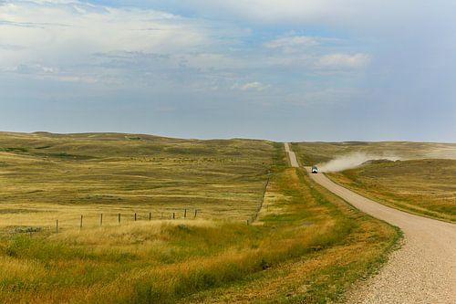 Prairie langs Highway 1 Canada van