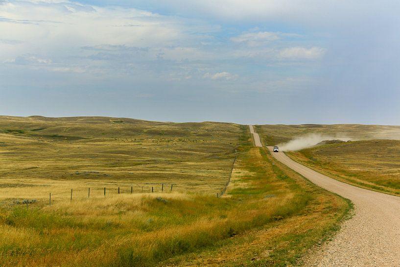 Prairie langs Highway 1 Canada van Hans Jansen - Lynxs Photography