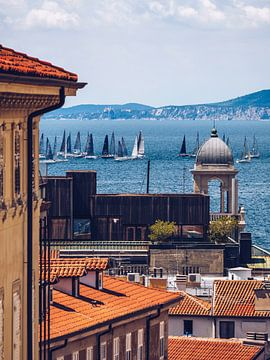 Triëst - Regatta in de Adriatische Zee van Alexander Voss