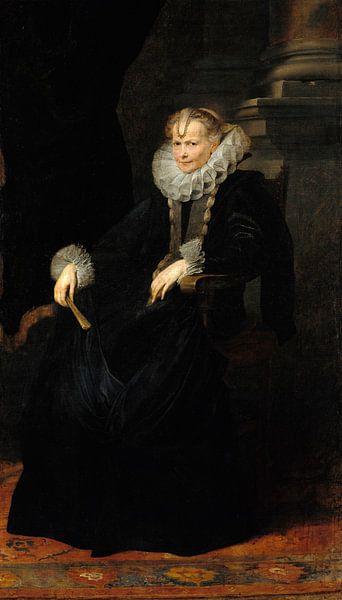 Porträt einer genovesischen Dame, Anthony van Dyck von Meesterlijcke Meesters
