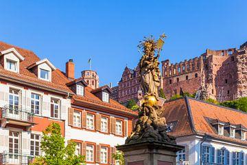Kornmarkt in Heidelberg van Werner Dieterich