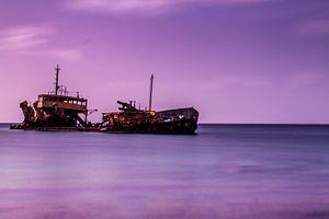 Wrak voor de kust van St. Maarten