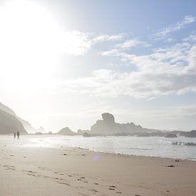 Mist en zon op het strand van Oregon Verenigde Staten van My Footprints