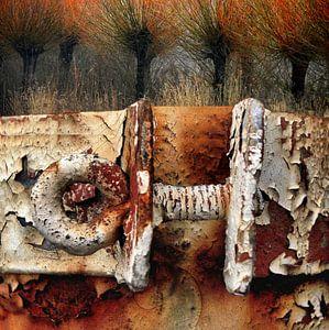 Abstracte digitale collage van Ger Veuger