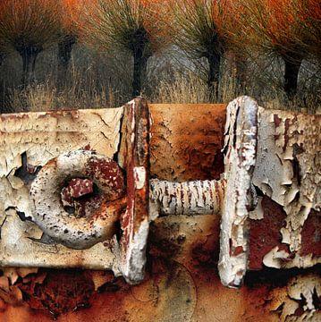 Collage numérique abstrait sur Ger Veuger