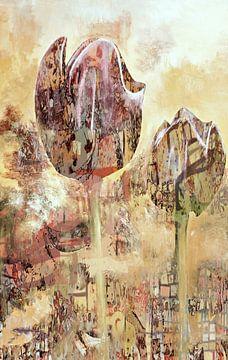Geschilderde tulpen van Rudy & Gisela Schlechter