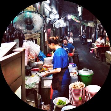 Steegjes in Bangkok van SPOOR Spoor