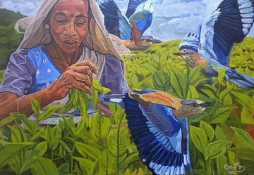 Theeplukster Sri Lanka von Bert Jan Nieuwenhuize