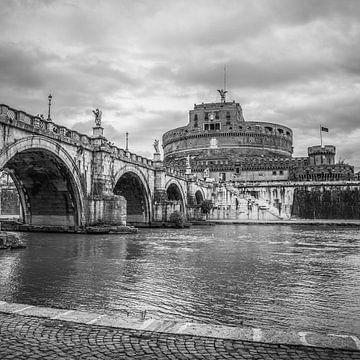 Italië in vierkant zwart wit, Rome sur Teun Ruijters
