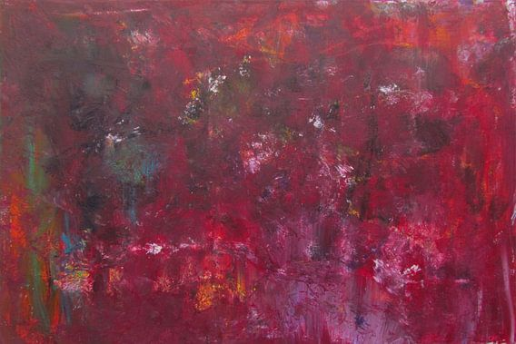 Abstrakte Kunst - Rostrot