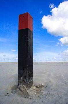 Strandpaal von Willy Sybesma