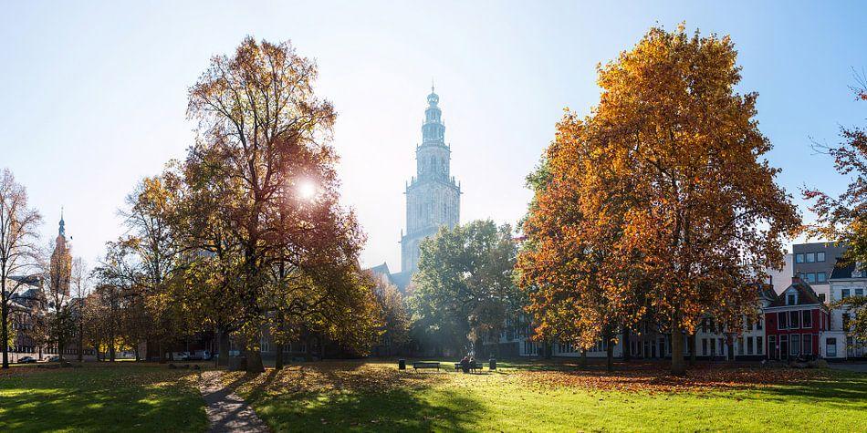 Martinitoren in de Herfst (panorama) van Frenk Volt