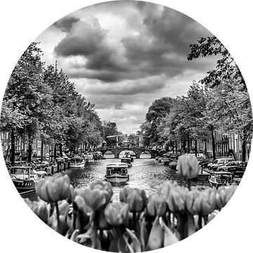 AMSTERDAM Gentlemen's Canal   monochrome van Melanie Viola