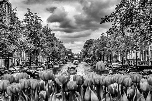 AMSTERDAM Gentlemen's Canal | monochrome sur Melanie Viola