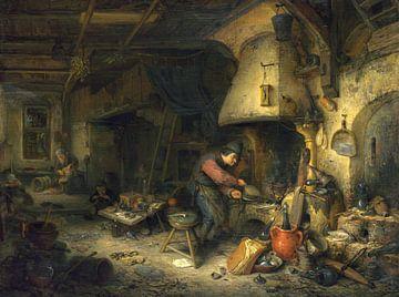 Der Alchemist, Adriaen van Ostade