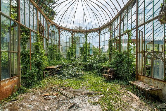 Verlaten tuinkamer in België