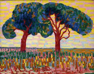Twee bomen, Jacoba van Heemskerck, 1908 - 1910 van Atelier Liesjes
