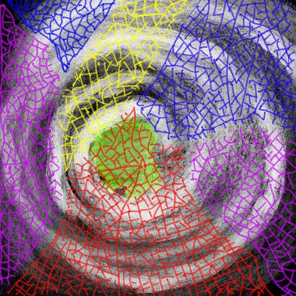 Sturm des Mosaiks von Neval's place