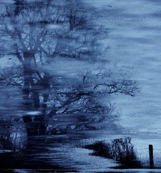 IJzig blauw van Lilian Huijben