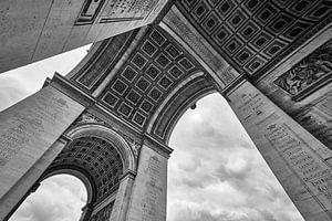 Arc de Triomphe in zwart-wit van