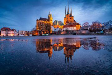 Erfurt - Domplein in de spiegel van Martin Wasilewski