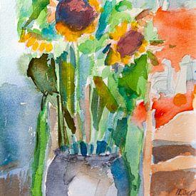 Zonnenbloem van Antonie van Gelder Beeldend kunstenaar