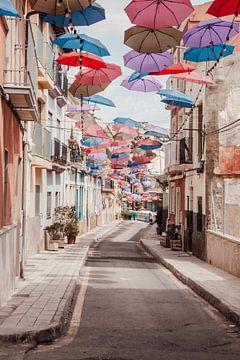 Regenschirmstraße Alicante von Shelena van de Voorde