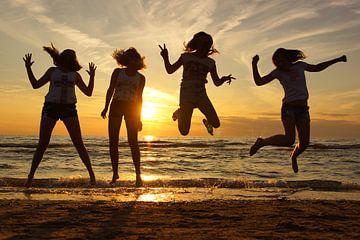 Springen van geluk sur