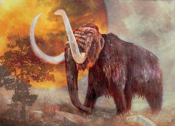 Mammut in der Landschaft von Freddy Hoevers