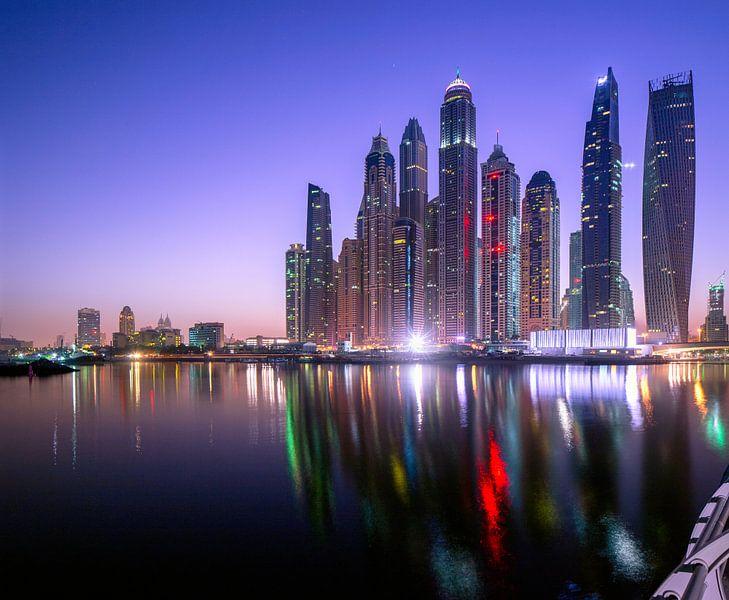 Dubai Marina Skyline van Rene Siebring