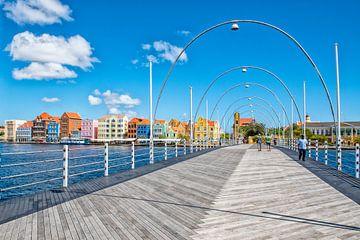Emma(Pontjes)brug Willemstad Curacao van Michel Groen