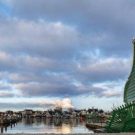 Nederlands landschap aan het water van Ton de Koning