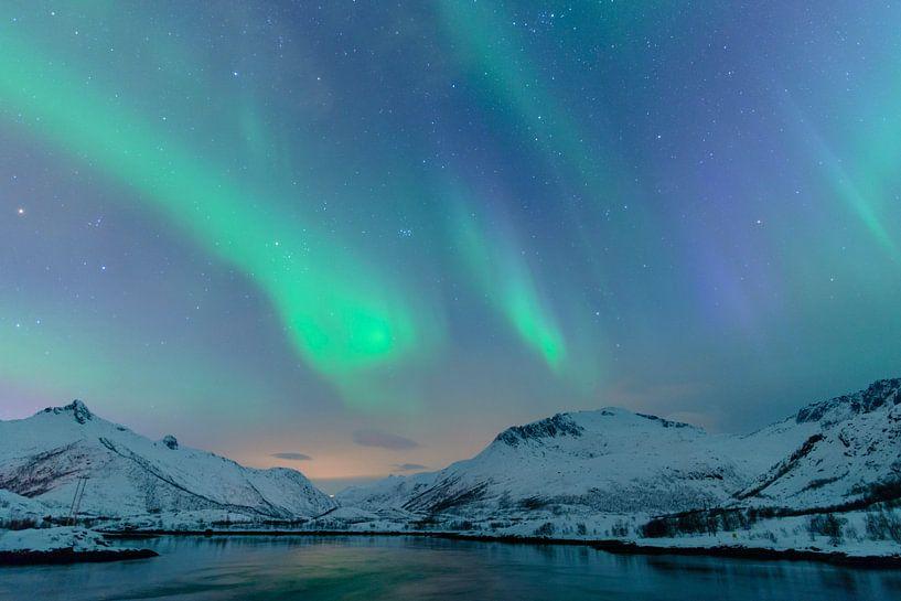 Nordlichter, Polarlicht oder Aurora Borealis von Sjoerd van der Wal