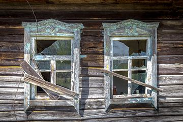 Oude gebroken ramen