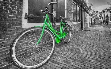 Grün Oma-Fahrrad von Peter Bartelings Photography