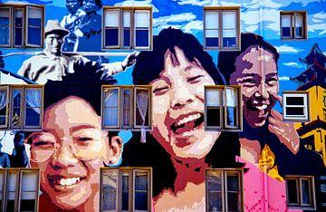 China Town Art - Analoge fotografie! van Tom River Art