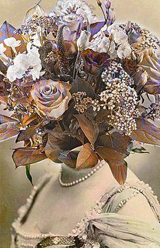Vintage flowergirl no.2 von PictureWork - Digital artist