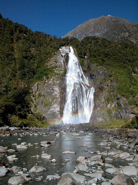 Waterfall Millford Sound van Helna Moa Multimedia