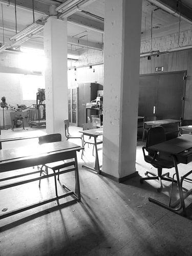 Verlaten klaslokaal