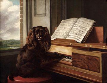 Philip Reinagle~Porträt eines außergewöhnlichen musikalischen Hundes