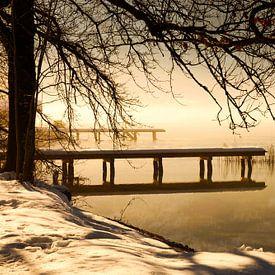 Winterlandschaft am See von Frank Herrmann